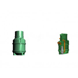 Studnia przepompowa - przepompownia PP 600-1125 190 litrów