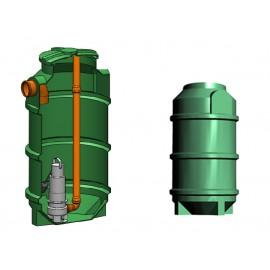 Studnia przepompowa - przepompownia PP 600-1165 250 litrów
