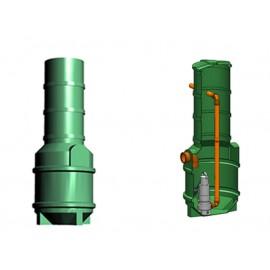 Studnia przepompowa - przepompownia PP 600-1665 290 litrów
