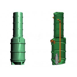 Studnia przepompowa - przepompownia PP 600-2200 440 litrów