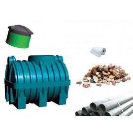 Oczyszczalnia ścieków SZAKK 1200 litrów z drenażem żwirowym 1N