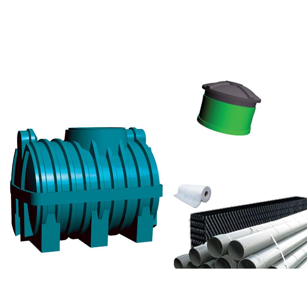 Oczyszczalnia ścieków SZAKK 1200 litrów z pakietami W-BOX 1N