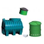 Oczyszczalnia ścieków SZAKK 1200 litrów ze studnią chłonną SZAKK 210 litrów 1N
