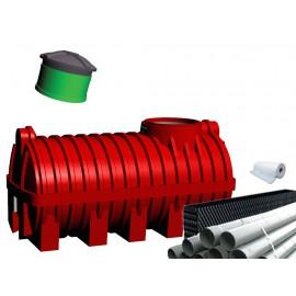 Oczyszczalnia ścieków SZAKK 2000 litrów z pakietami W-BOX 1N