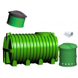 Oczyszczalnia ścieków SZAKK 2700 litrów ze studnią chłonną SZAKK 210 litrów 1N