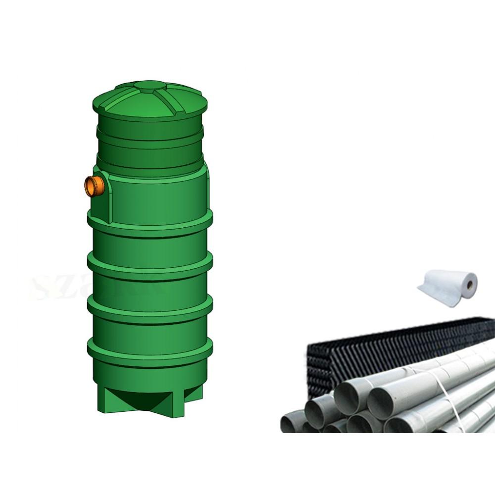Oczyszczalnia ścieków SZAKK 573 litrów z pakietami W-BOX 1N