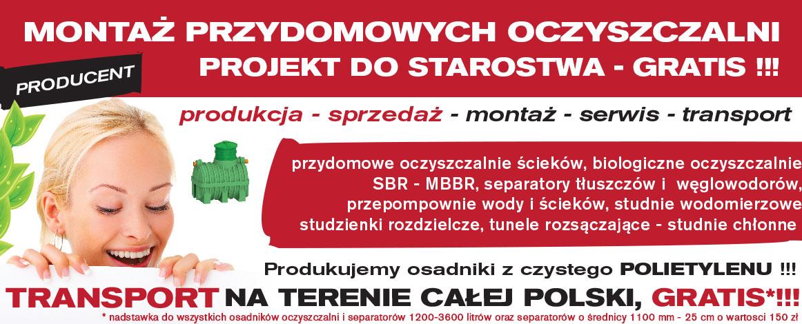 Montaż przydomowych oczyszczalni ścieków śląsk i łódzkie - projekt gratis