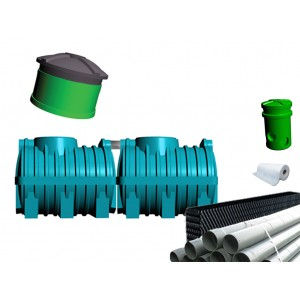 Oczyszczalnia ścieków SZAKK 2400 litrów z pakietami W-BOX 1N