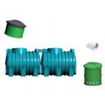 Oczyszczalnia ścieków SZAKK 2400 litrów ze studnią chłonną SZAKK 210 litrów 1N do 6 osób